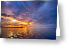 Purple Orange Dream Sunset Greeting Card