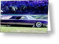 Purple Overtones Greeting Card