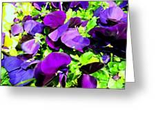 Purple Petals Greeting Card