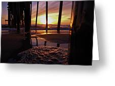 Purple Pier Perfection 2012 Greeting Card