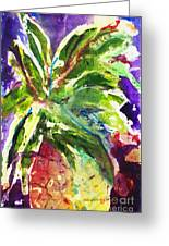 Purple Pineapple Greeting Card