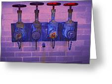 Purple Pipes Greeting Card