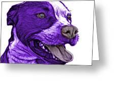 Purple Pit Bull Fractal Pop Art - 7773 - F - Wb Greeting Card