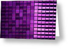 Purple Pixels Greeting Card