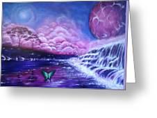 Purple Planet Greeting Card