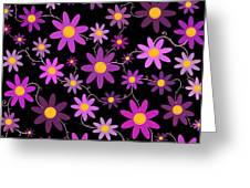 Purple Polka Greeting Card