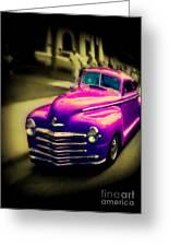 Purple Ride Greeting Card