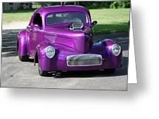 Purple Rod Greeting Card