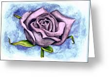 Purple Rose Greeting Card by Robert Morin