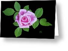 Purple Rosebud2 Cutout Greeting Card