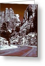 Purple Mount Rushmore Vision Greeting Card