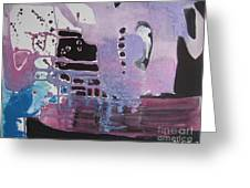 Purple Seascape Greeting Card