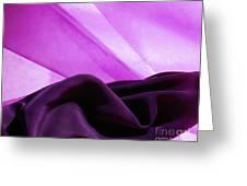 Purple Silk Greeting Card
