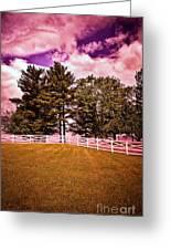Purple Sky Greeting Card
