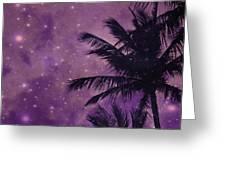 Purple Sky Palm Greeting Card