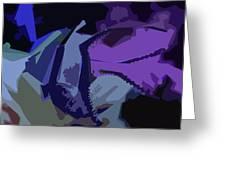 Purple Smash Greeting Card