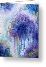 Purple Sofness Greeting Card