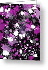 Purple Splash Greeting Card