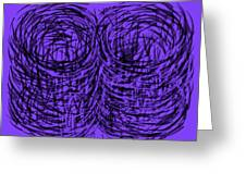 Purple Swirls Greeting Card