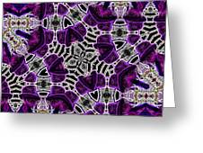 Purple Top Hats Kaleidoscope Greeting Card