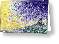 Purple Tree And The Afternoon Sun Greeting Card