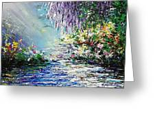 Purple Tree By The Lake Greeting Card
