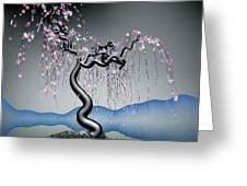 Purple Tree In Water 2 Greeting Card by GuoJun Pan