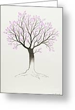 Purple Tree Greeting Card