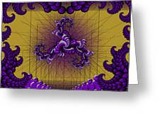 Purple Tripolar Greeting Card