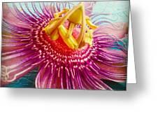 Purple Tropic Greeting Card