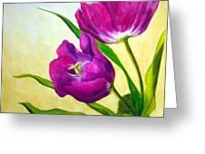 Purple Tulips Greeting Card
