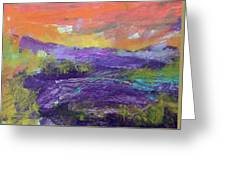 Purple Valley Greeting Card