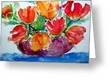 Purple Vase Greeting Card