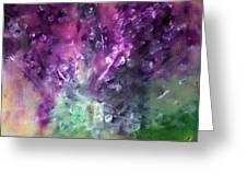 Purple Vortex Painting Greeting Card