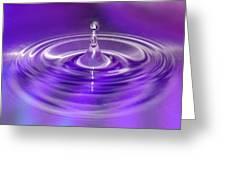 Purple Water Drop Greeting Card
