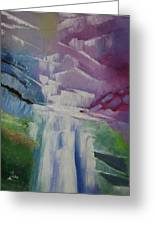 Purple Waterfalls Greeting Card