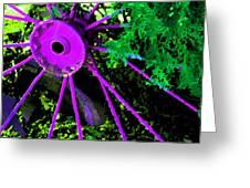 Purple Wheel Greeting Card