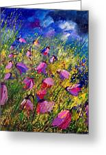 Purple Wild Flowers  Greeting Card