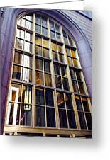 Chicago Golden Purple Window Panes Greeting Card