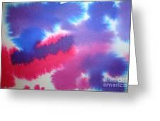 Purple Wisp Greeting Card