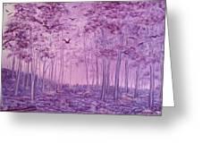 Purple Woods Greeting Card