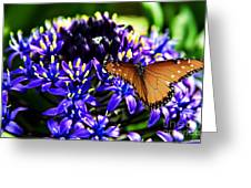 Purple World Greeting Card