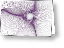 Purplish Greeting Card