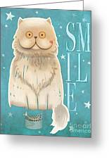 Purr, Smile Cat Greeting Card