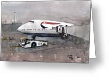 Push Back 747 Style London Greeting Card