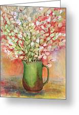 Pussy Willow And Pitcher Greeting Card by Barbel Amos