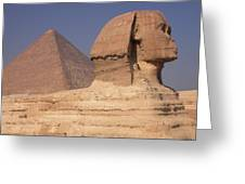 Pyramid And Sphinx Greeting Card
