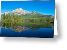 Pyramid Island In The Pyramid Lake Greeting Card