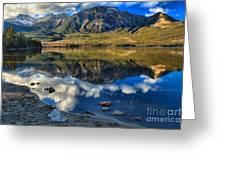 Pyramid Lake Resort Reflections Greeting Card