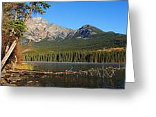 Pyramid Mountain In The Morning Greeting Card
